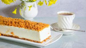 מתכון עוגת גבינה פירורים