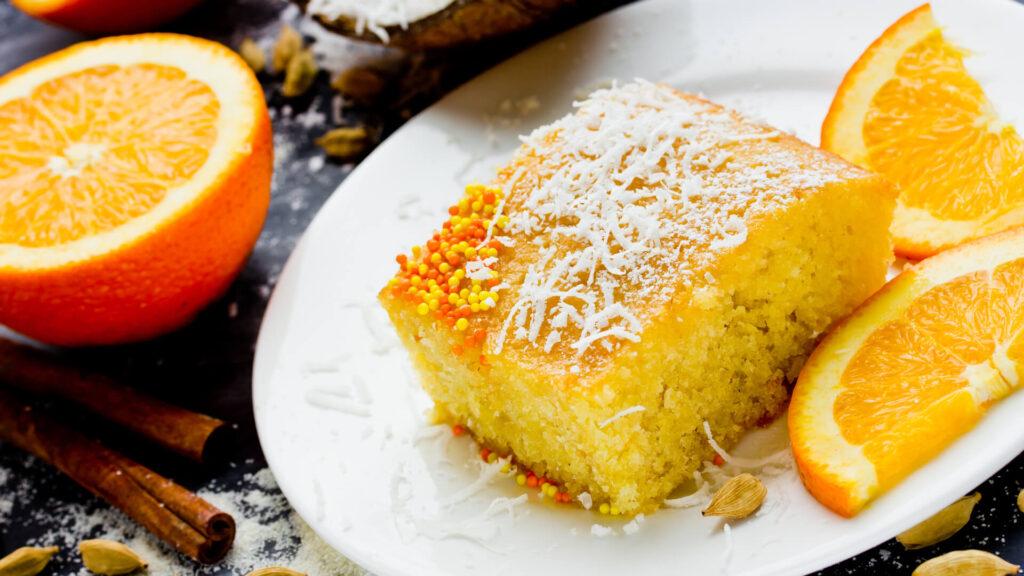 מתכון עוגת תפוזים וקוקוס