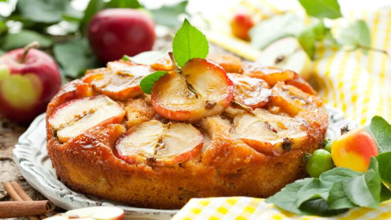 מתכון עוגת תפוחים הפוכה